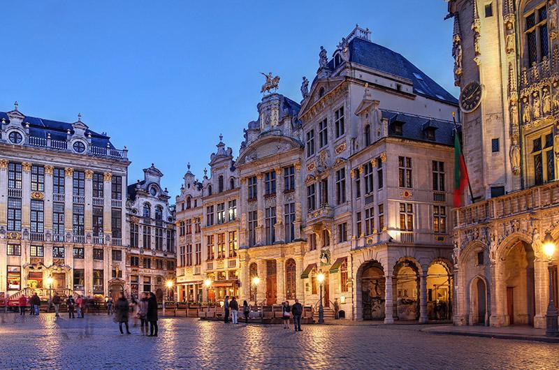 Grand Place e Ilôt Sacré, Bruselas, Bélgica