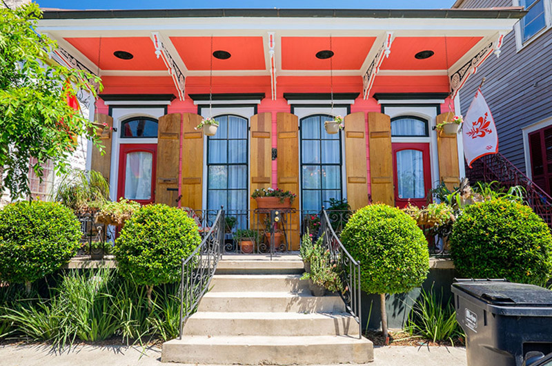 Casa sureña, Faubourg Marigny, Nueva Orleans, EEUU