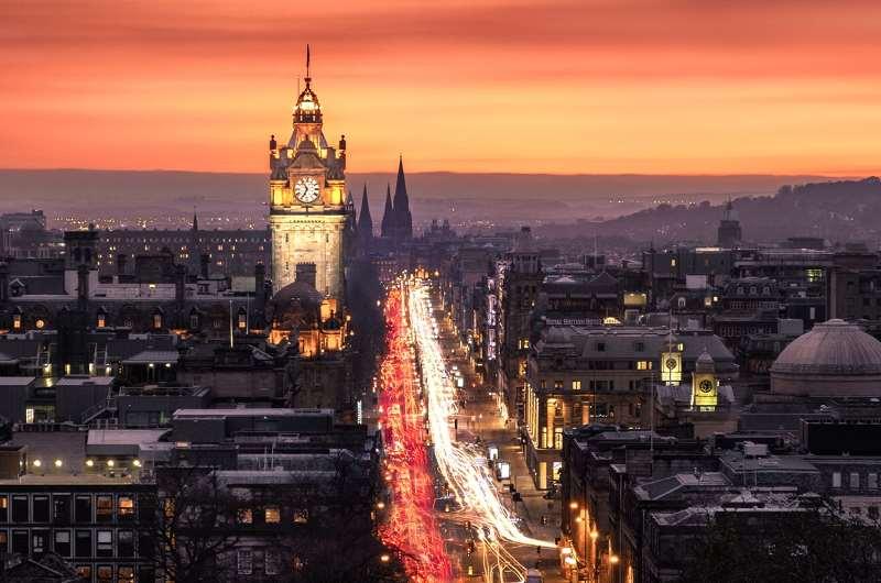 Pinces Street, New Town, Edimburgo, Escocia