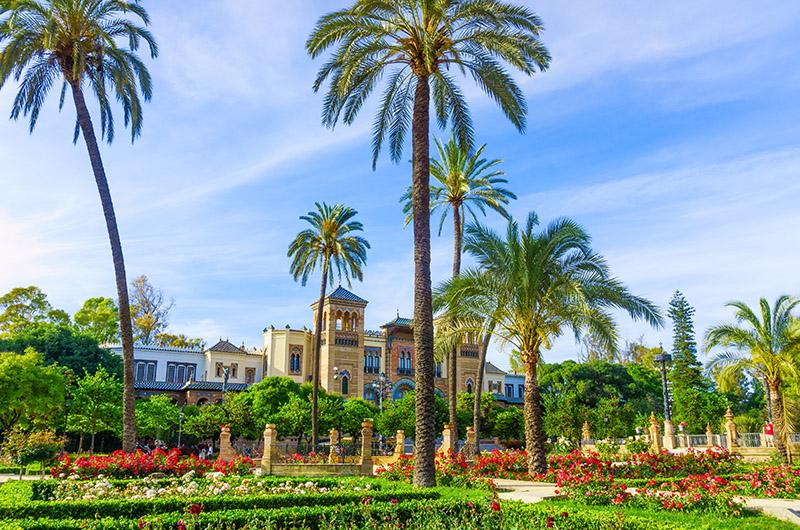 Museo de Artes y Costumbres Populares en el Parque de María Luisa, Sevilla, Andalucía, España