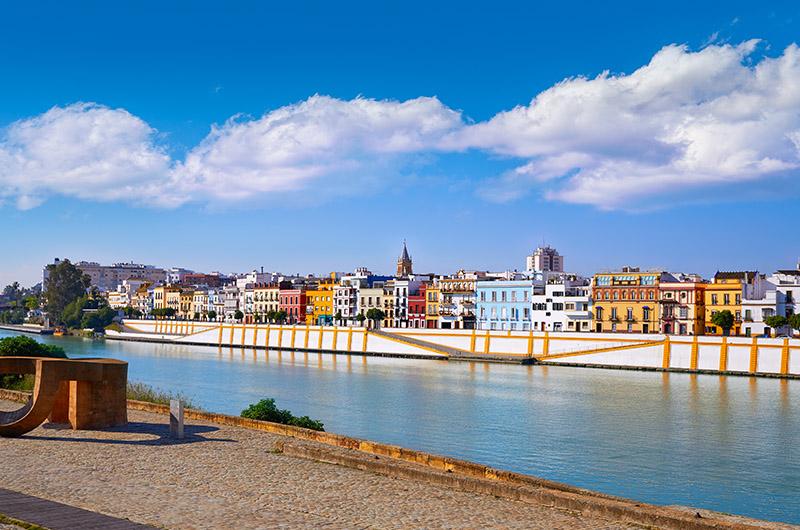 Triana y el Guadalquivir, Sevilla, Andalucía, España