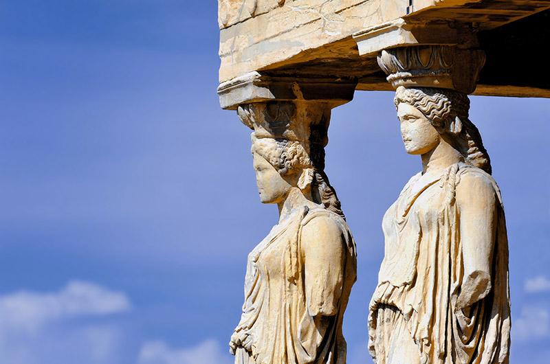 Cariátidas, Acrópolis, Atenas, Grecia