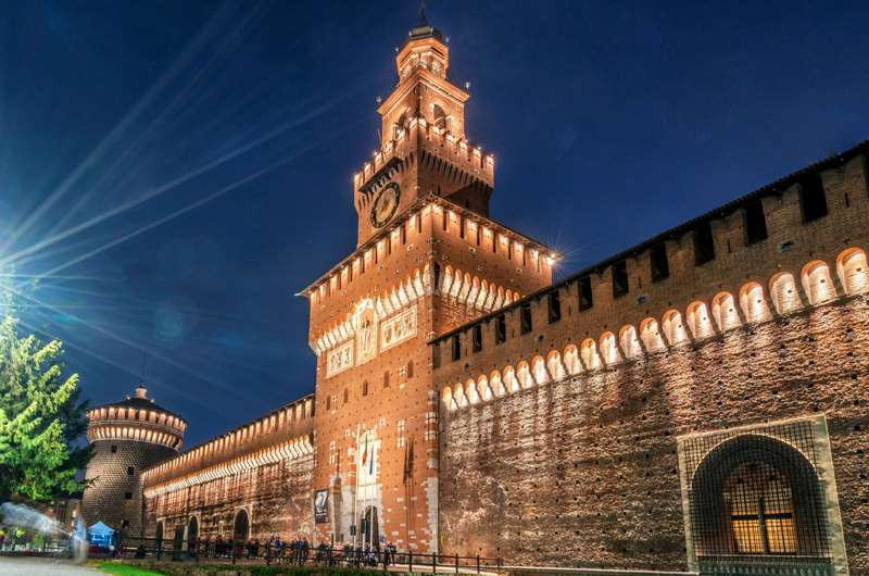 Castello Sforzesco, Milan, Italia