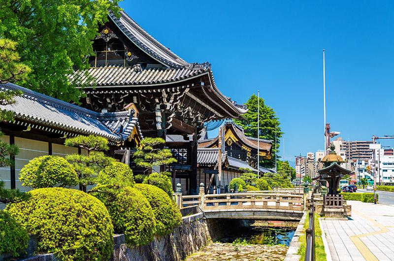 Nishi Hongan-ji, estación de Kioto y sur de Kioto, Japón