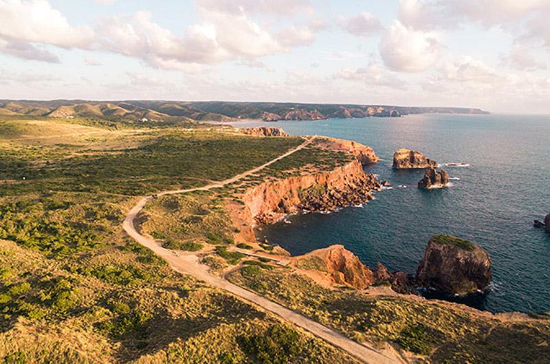 Rota Vicentina, costa oeste del Algarve, Portugal