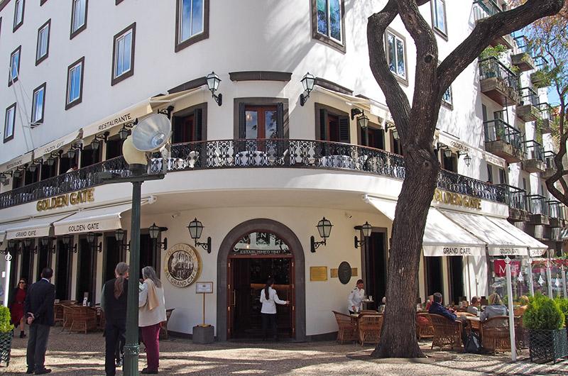 Golden Gate Café, oeste de Funchal, Madeira, Portugal