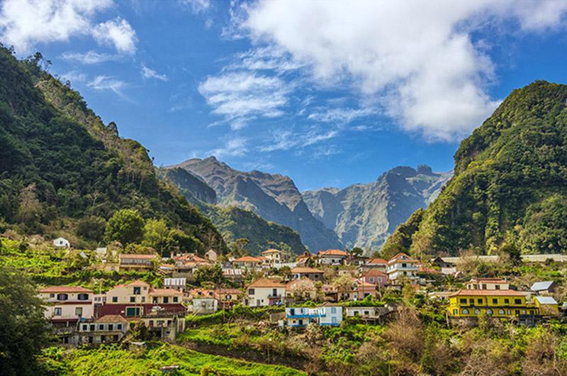 Parque Natural do Ribeiro Frio, montañas del interior de Madeira, Portugal