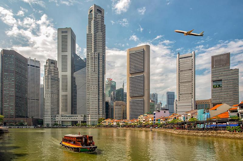 El barrio colonial, los Quays y Marina Bay, Singapur