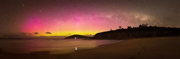 Aurora austral en Australia, Tasmania