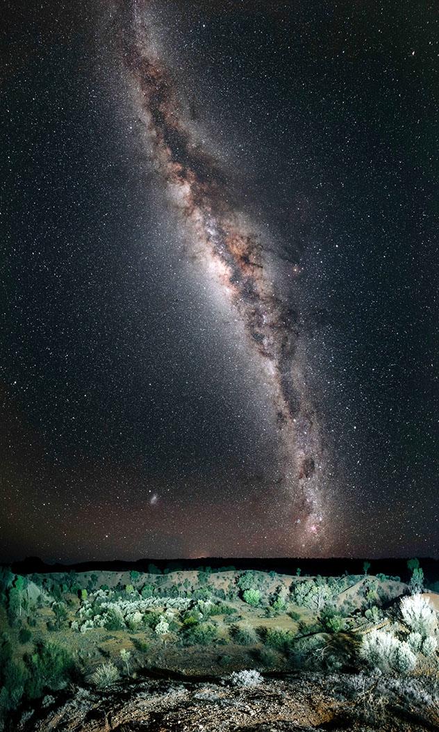 Cielo oscuro en Australia, Vía Láctea