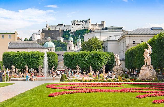 Salzburgo y la música: jardines de Schloss Mirabell
