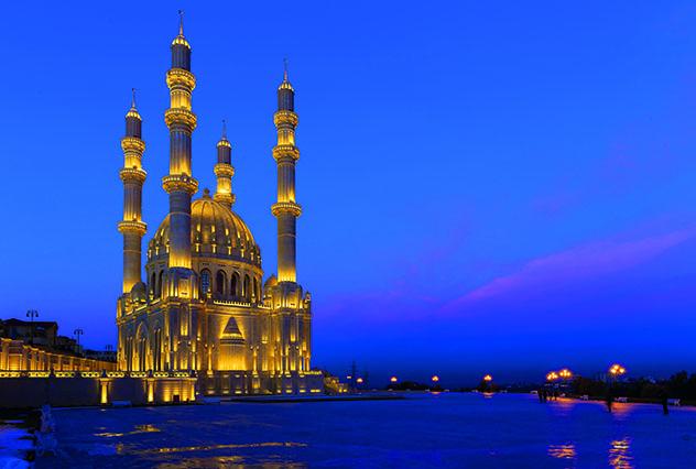 Azerbaiyán, la mezquita de Bakú