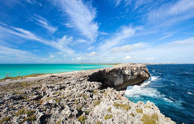 Piscina oceánica: Queen's Baths, Eleuthera, Bahamas
