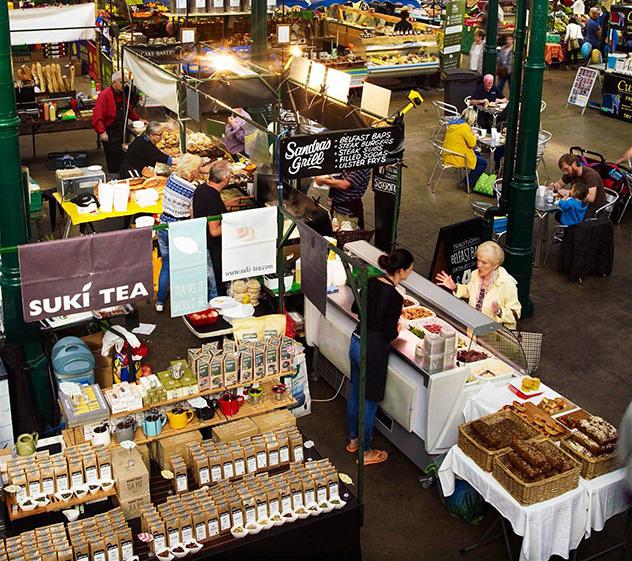St. George's Market, en Belfast, está repleto de alimentos gourmet © Andrew Montgomery / Lonely Planet