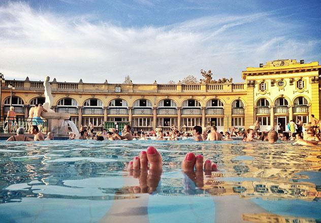 Baño en balneario en Budapest