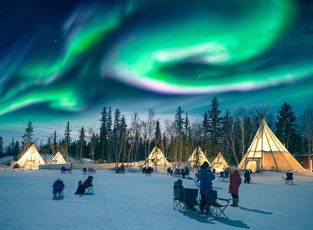 Aurora boreal en Canadá, Yellowknife
