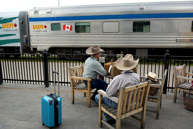 Estación de tren en Jasper, Canadá