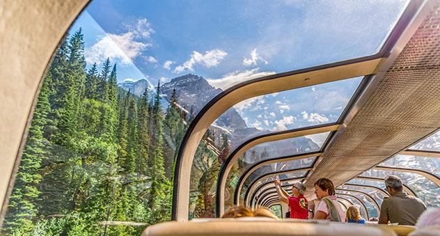 Rocky Mountaineer, tren Canadá