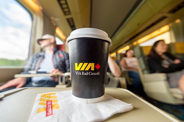 Interior del tren, Canadá