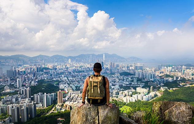 Hong Kong desde Lion Rock, China, Asia