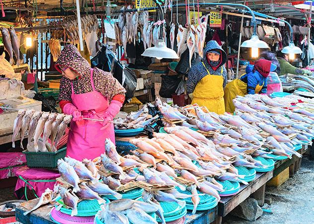 Corea del Sur: mercado Jagalchi en Busan