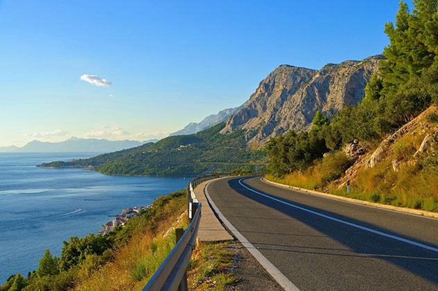 Carretera de Europa: Jadranska Magistrale, la carretera Adriática, Croacia y Montenegro