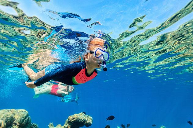Aventuras en familia: 'snorkel' para niños