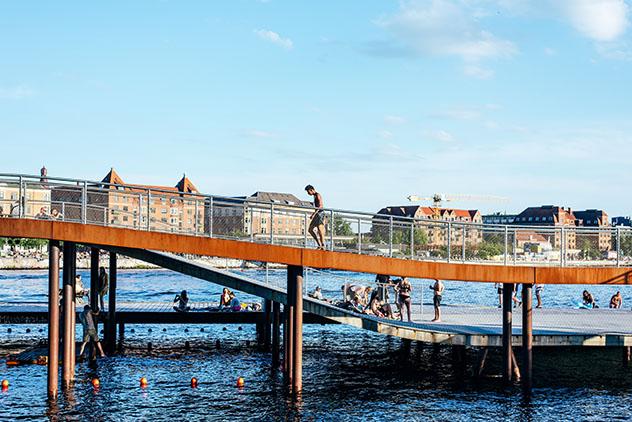 Piscina urbana de Copenhague: Islands Brygge Harbour Baths, Dinamarca
