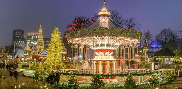 Europa en invierno: Jardines del Tivoli en Navidad