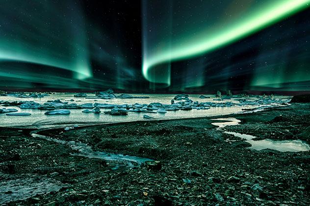 Aurora boreal en Groenlandia, Dianamrca