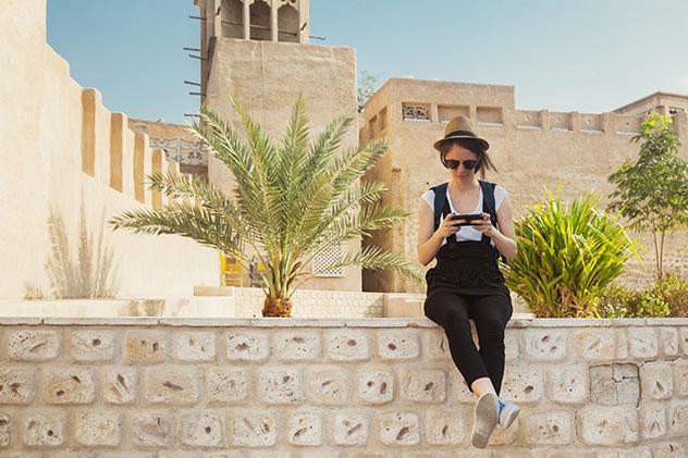 Dubái: viajera en el barrio antiguo