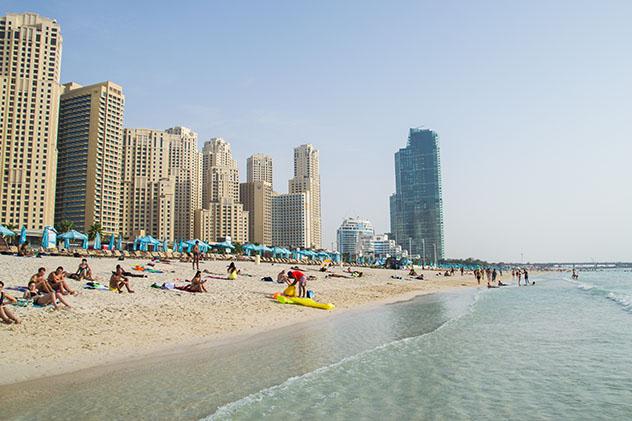 Dubái: playa Dubái Marina JBR