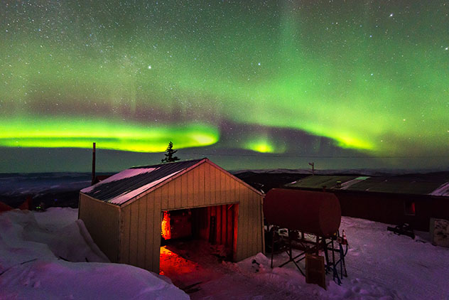 Aurora boreal en Alaska, Fairbanks