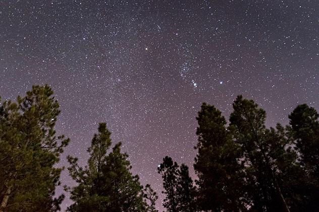 Cielo oscuro en Flagstaff, Arizona