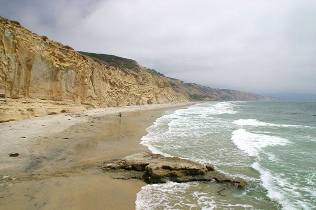 Playa nudista de California: Black's Beach en San Diego