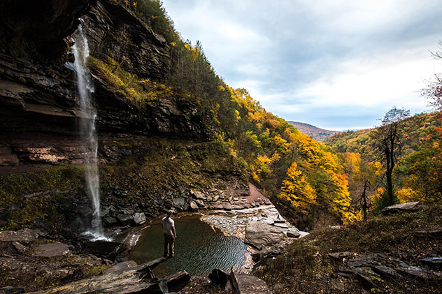 Kaaterskill Falls, Palenville, Catskills, Nueva York, costa este, EE UU © James Parascandola / Shutterstock