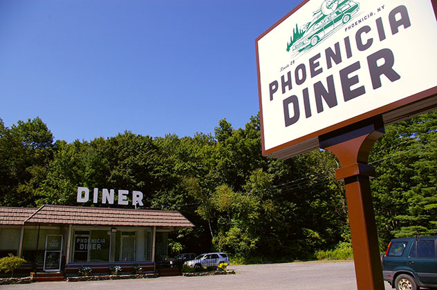 Phoenicia Diner, Phoenicia, Catskills, Nueva York, costa este, EE UU © Watershed Post / Flick