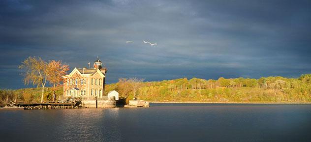 Saugerties Lighthouse, río Hudson, Catskills, Nueva York, costa este, EE UU © www.saugertieslighthouse.com