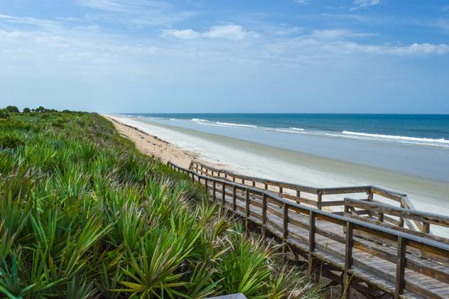 Las playas de Canaveral National Seashore están protegidas por el Sistema Nacional de Parques, costa espacial de Florida, EE UU © Michael Warren / Getty Images