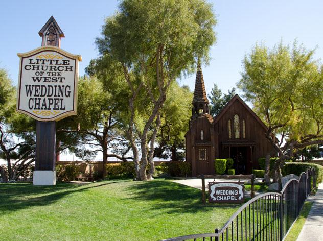 Capilla para bodas, Little Church of the West Wedding Chapel, Las Vegas, EE UU © www.davidbaxendale.com