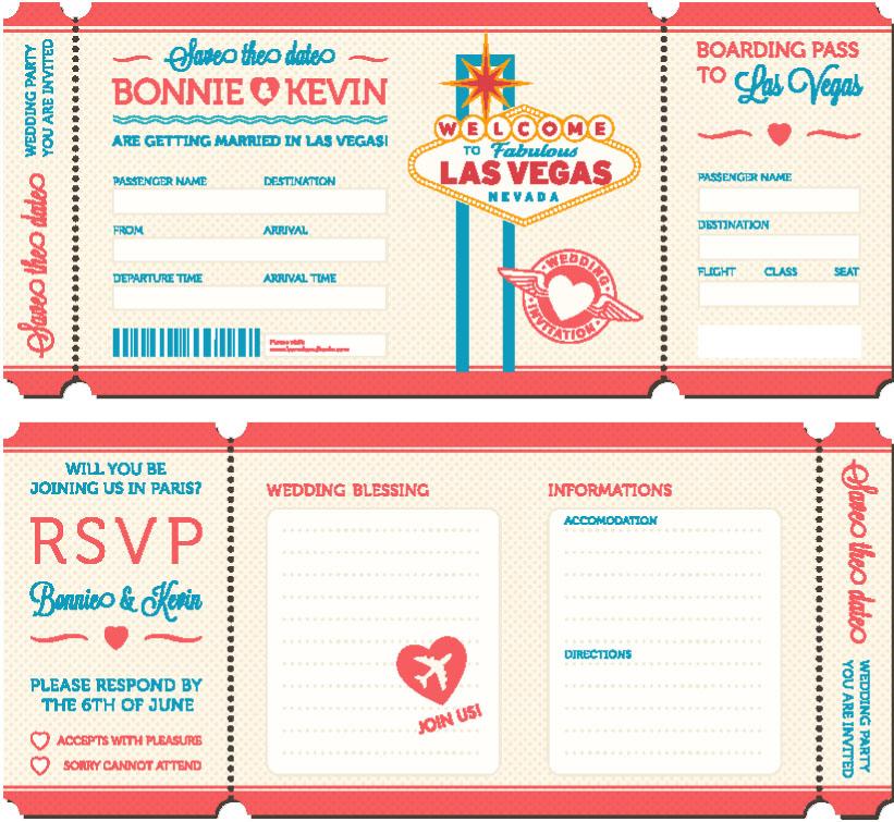 Invitación Boda, Las Vegas, EE UU © pingebat / Shutterstock
