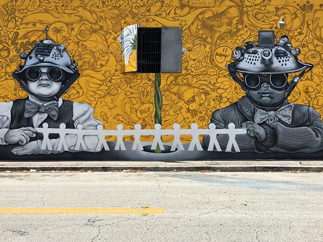 Miami arte urbano: grafiti de Wynwood
