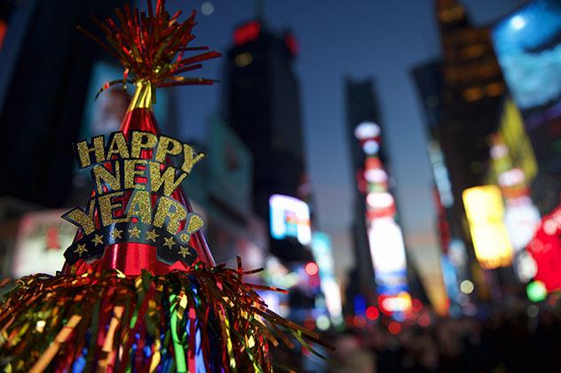 Fin de Año en Nueva York, en Times Square