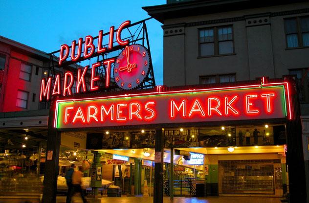 Pike Place Center, Seattle, Washington, costa del Pacífico, EE UU © Mark B.Bauschke / Shutterstock
