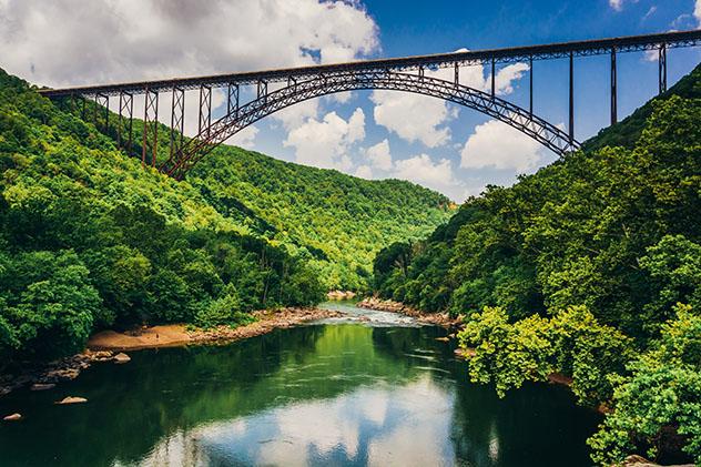 New River Gorge Bridge, en el estado de Virgina Occidental, EE UU