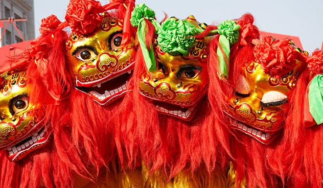 León chino, celebración, Chinese American Museum, Washington DC