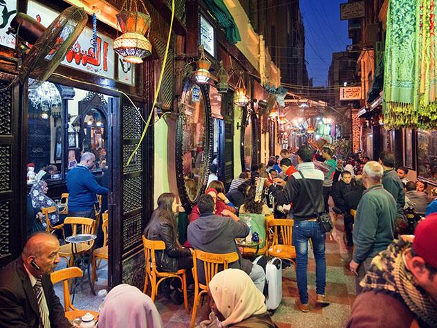 Vida nocturna en El Cairo, Egipto