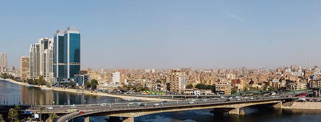 Puente sobre el río Nilo, El Cairo, Egipto