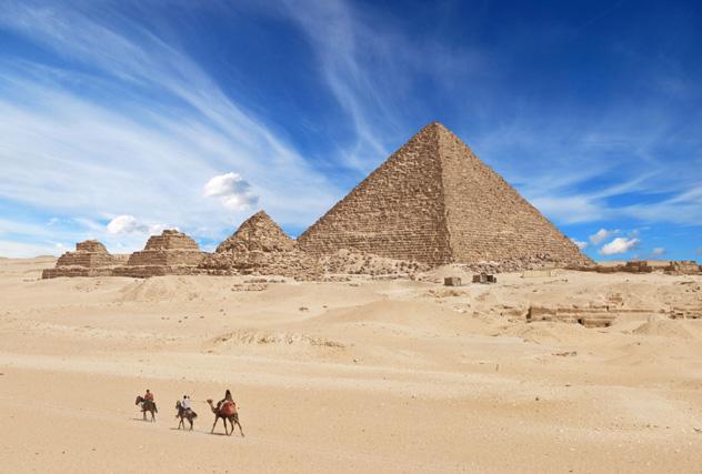 Las pirámides de Giza, Egipto © Waj / Shutterstock