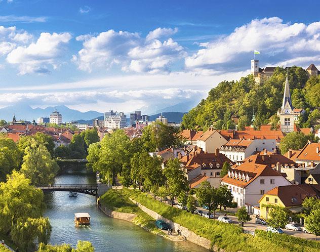Eslovenia: río Ljubljanica a su paso por Liubliana